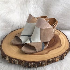 Anthropologie Coclico leather wedge sandals